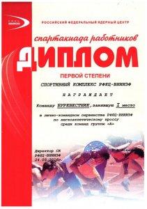 Спартакиада ВНИИЭФ-2016. Кросс.